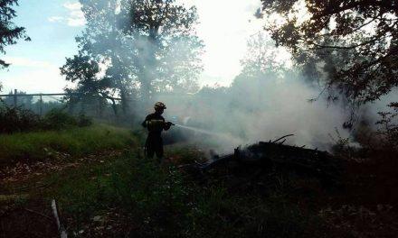 Požar granja na hrpi pored fazanerije u Galićima – 06.07.2018.