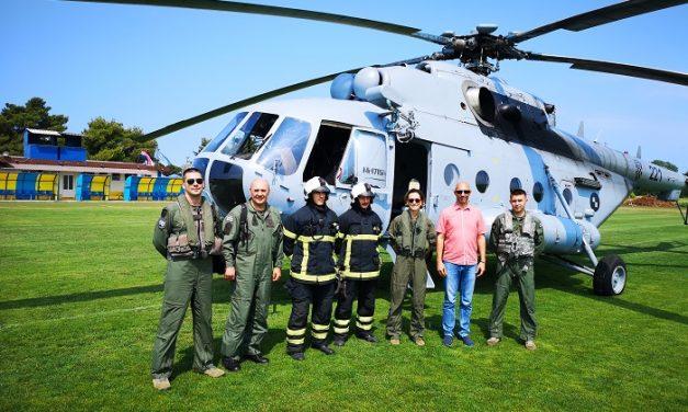 Umag posjetili članovi Hrvatskog ratnog zrakoplovstva 