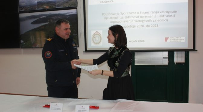 Potpisan Sporazum o financiranju vatrogasne djelatnosti